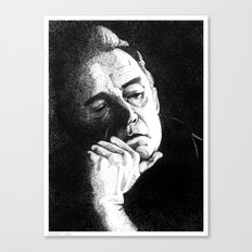 Man In Black JCII Pointillism Canvas Print