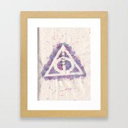 deathly hallows (in purple) Framed Art Print
