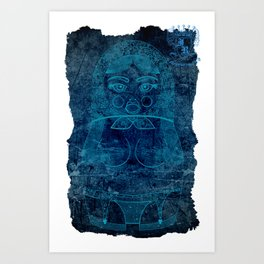 Blueprint X (background) Matryoshka / Nesting Doll Art Print