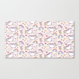 Unicorns and Rainbows Canvas Print