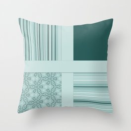 Tiled Mint Green Pattern Design Throw Pillow