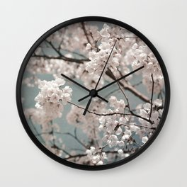 a sky full of blossoms Wall Clock