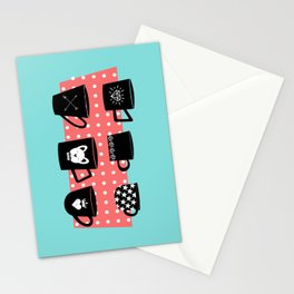 Coffee Mugs Collection Stationery Cards