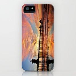 Pink Sunset Reflections  ~ Huntington Beach Pier CA iPhone Case