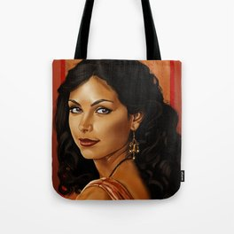 Girl with a Shiny Earring Tote Bag