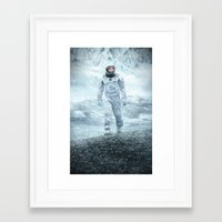 interstellar Framed Art Prints featuring Interstellar by crayonide