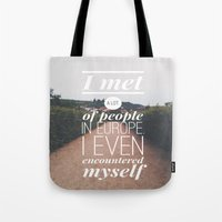 europe Tote Bags featuring EUROPE by REASONandRHYME