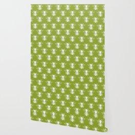 The Bee's Knees Green Wallpaper