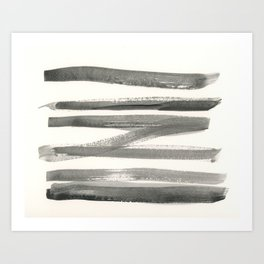 Abstract Line No. 61 black and white Art Print