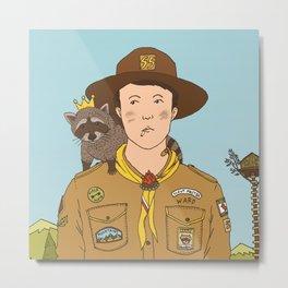 Scoutmaster Ward & King Racoon Metal Print