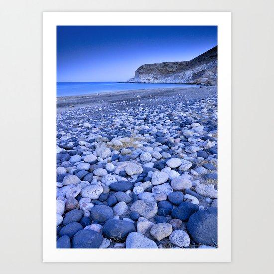 """Blue pebbles"" Art Print"