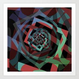 Celtic Droste Pattern Art Print