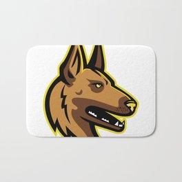 Belgian Malinois Dog Mascot Bath Mat