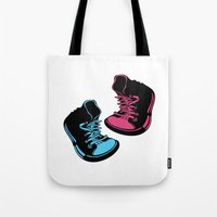 sneakers Tote Bags featuring Sneakers by Cindys