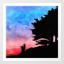 Bembridge Sunset Art Print