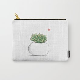 Succulent in Plump White Planter Carry-All Pouch