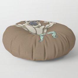 Pug Bodybuilder Floor Pillow