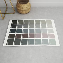 Shades of Grey Pantone Rug