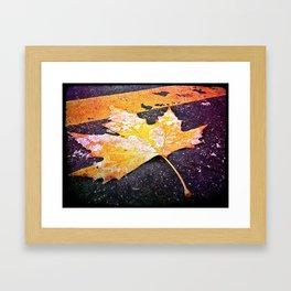 Frozen Leaf Framed Art Print