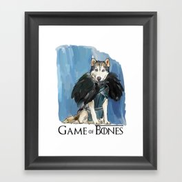 Game of Bones John as a Husky Framed Art Print