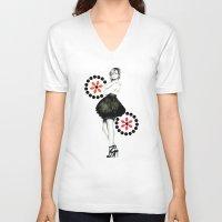 emma watson V-neck T-shirts featuring EMMA WATSON by My Dear Bambi