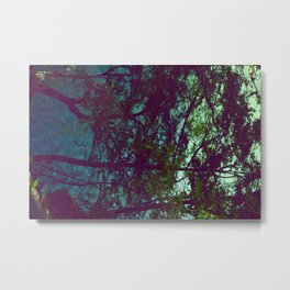 Pure Green Metal Print