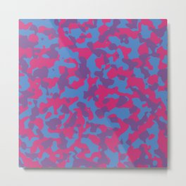 Trending Colors Girly Camouflage Metal Print