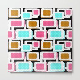 Retro . Abstract geometric pattern 1 Metal Print