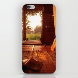 Hut on the river iPhone Skin