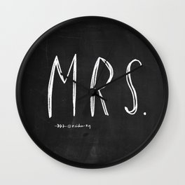 Mrs - Mr and Mrs wedding decoration Wall Clock