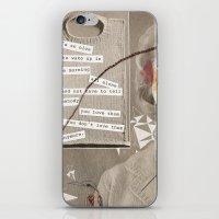 poem iPhone & iPod Skins featuring LOVE POEM by MEERA LEE PATEL