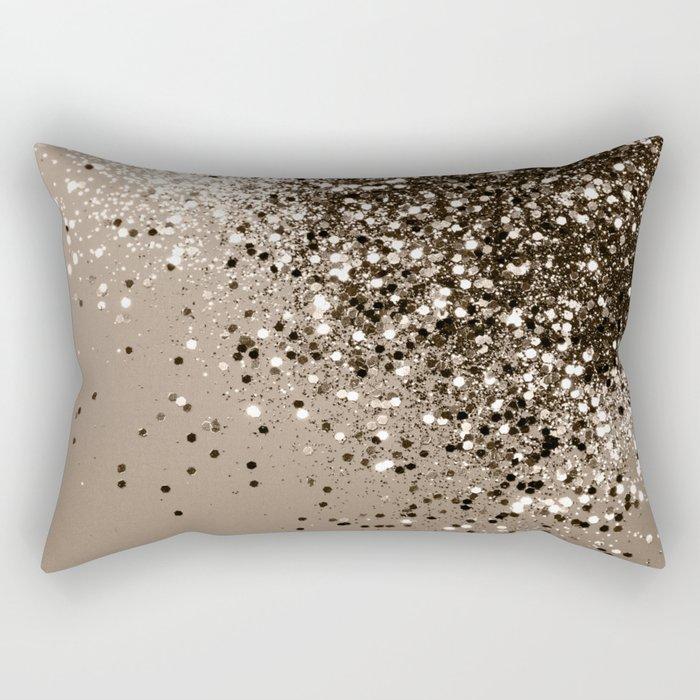 Sparkling Sepia Lady Glitter #1 #shiny #decor #art #society6 Rectangular Pillow
