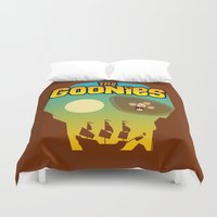the goonies Duvet Covers featuring The Goonies by tuditees