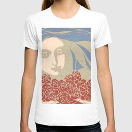 "Koloman (Kolo) Moser ""Woman's Head with Roses"" T-shirt"