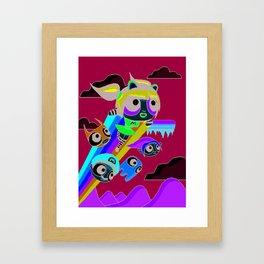 The Power Nyan Girl Framed Art Print