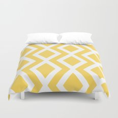 Yellow Diamond Duvet Cover