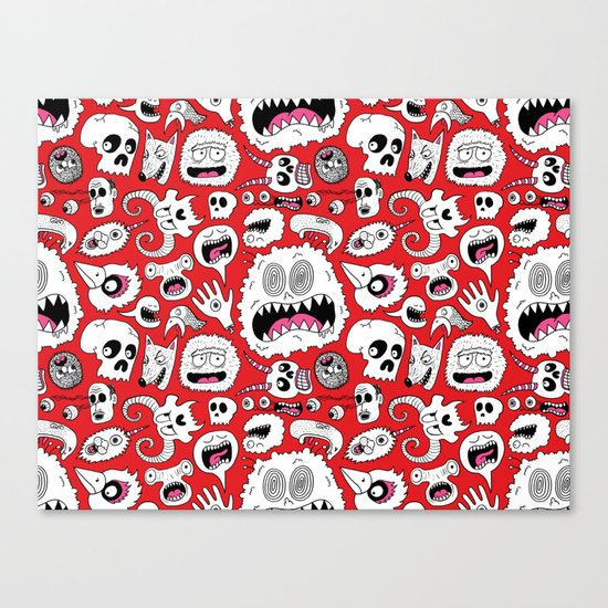 Another Monster Pattern Canvas Print