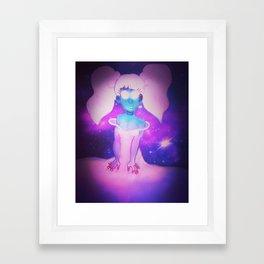 galaxy babe Framed Art Print