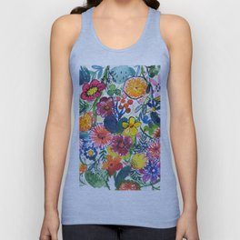 happy floral pattern Unisex Tank Top