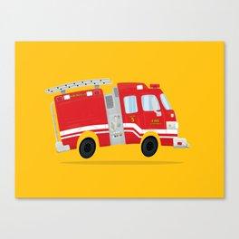 Cute Firetruck Canvas Print