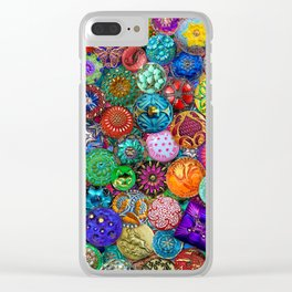 Glass Buttons Clear iPhone Case