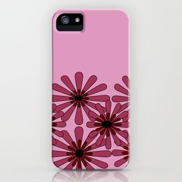 Pink Flower Pattern 1 iPhone Case