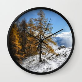 The Confluence Of The Seasons Wall Clock