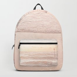 Waves And Sunset Over Golden Sand Backpack
