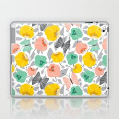 Butterfly Blossom Floral - Peach Laptop & iPad Skin