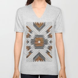 Urban Tribal Pattern 8 - Aztec - Wood Unisex V-Neck