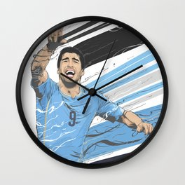 Football Stars: Luis Suarez - Uruguay  Wall Clock