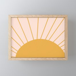 oh hi there sun ii Framed Mini Art Print