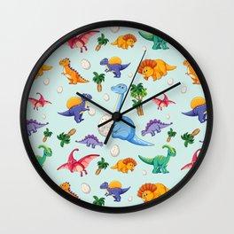 Colorful Cute Dinosaur Pattern Wall Clock