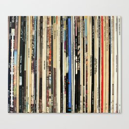 Classic Rock Vinyl Records Canvas Print
